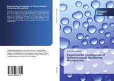 Обложка Experimental Investigation of Drying Droplets Containing Microparticle