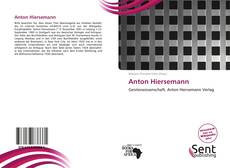 Bookcover of Anton Hiersemann