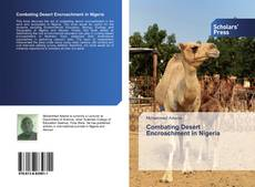 Bookcover of Combating Desert Encroachment in Nigeria
