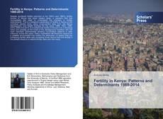 Fertility in Kenya: Patterns and Determinants 1989-2014 kitap kapağı