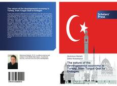 Capa do livro de The nature of the developmental economy in Turkey, from Turgut Ozal to Erdogan