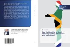 Capa do livro de Has the Republic of South Africa's populace Reconciled with each other?