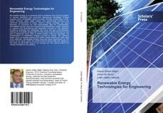 Portada del libro de Renewable Energy Technologies for Engineering