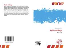 Bookcover of Rolle College