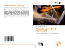 Bookcover of Violin Concerto No. 1 (Goldmark)