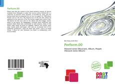 Bookcover of Perform.00
