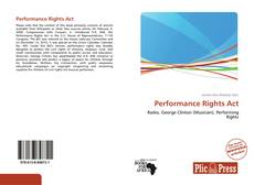 Bookcover of Performance Rights Act