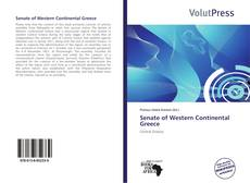 Couverture de Senate of Western Continental Greece