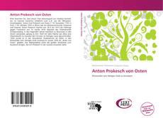 Buchcover von Anton Prokesch von Osten