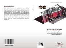 Buchcover von Betriebsaufsicht