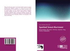 Обложка Spotted Snout-Burrower