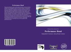 Portada del libro de Performance Bond