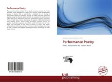 Couverture de Performance Poetry