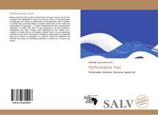 Buchcover von Performative Text