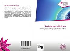 Copertina di Performance Writing