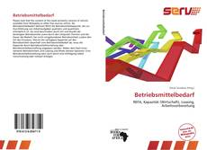 Bookcover of Betriebsmittelbedarf