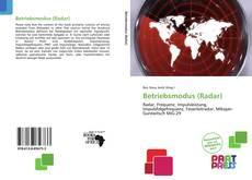 Bookcover of Betriebsmodus (Radar)