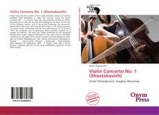 Bookcover of Violin Concerto No. 1 (Shostakovich)