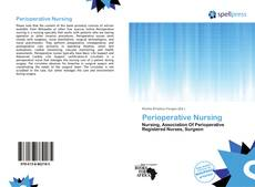 Bookcover of Perioperative Nursing