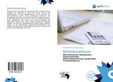 Обложка Betriebsoptimum