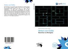 Обложка Anton von Cetto