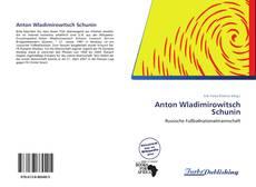 Anton Wladimirowitsch Schunin kitap kapağı
