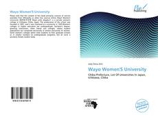 Copertina di Wayo Women'S University