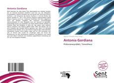 Copertina di Antonia Gordiana