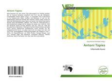 Antoni Tàpies kitap kapağı