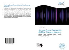 Buchcover von Spring Creek Township, Coffey County, Kansas
