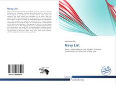 Bookcover of Navy List