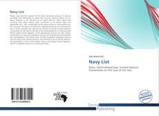 Capa do livro de Navy List