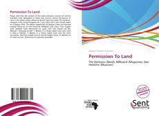 Bookcover of Permission To Land