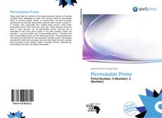 Bookcover of Permutable Prime