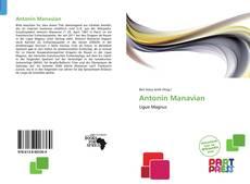 Buchcover von Antonin Manavian