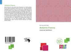Capa do livro de Antonio Franco