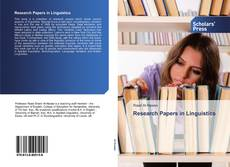 Capa do livro de Research Papers in Linguistics