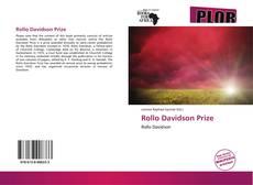 Copertina di Rollo Davidson Prize