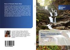 Portada del libro de Reuse of Domestic Waste Water