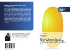 Capa do livro de Effect of Season, Harvest stage, After-ripening/Storage