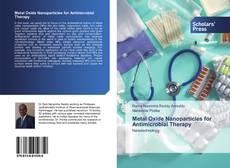 Portada del libro de Metal Oxide Nanoparticles for Antimicrobial Therapy