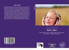 Betty Allen kitap kapağı
