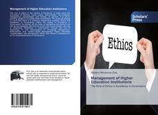 Bookcover of Management of Higher Education Institutions