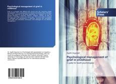 Portada del libro de Psychological management of grief in childhood