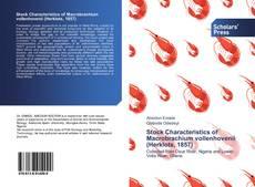Bookcover of Stock Characteristics of Macrobrachium vollenhovenii (Herklots, 1857)