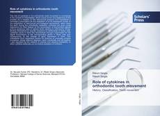Bookcover of Role of cytokines in orthodontic tooth movement