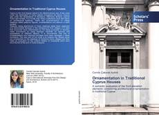 Portada del libro de Ornamentation in Traditional Cyprus Houses