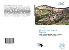 Buchcover von Kleszczewo, Leszno County