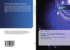 Bookcover of Fractional Integral Differential Equations