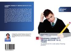 Couverture de LEARNING DISABILITY AMONG BOYS OF 10-12 YEARS